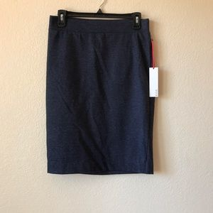 ELLE Womens Pull On Pencil Skirt Evening Blue